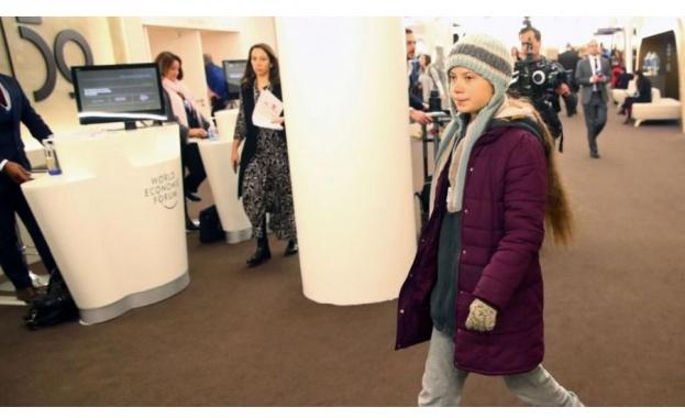 Шведската екоактивистка Грета Тунберг заяви в Давос пред глобалния политически