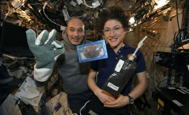 Шоколадовите бисквити, направени преди месец на Международната космическа станция, са