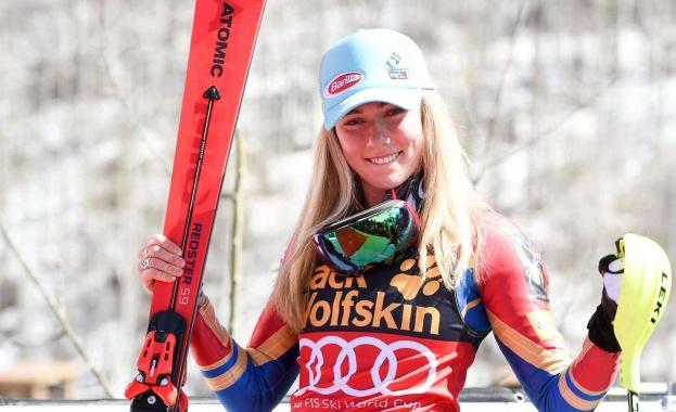 Голямата звезда на алпийските ски Микаела Шифрин демонстрира класата си