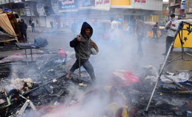 Напрежението в Ирак не стихва. Протести се разгарят в столицата