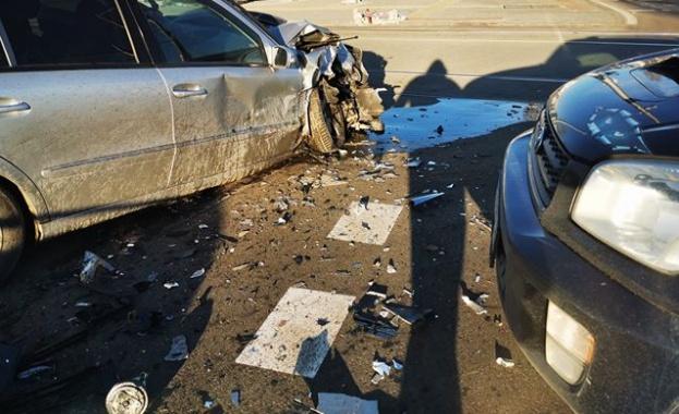 Две леки коли се блъснаха тази сутрин в София. Инцидентът