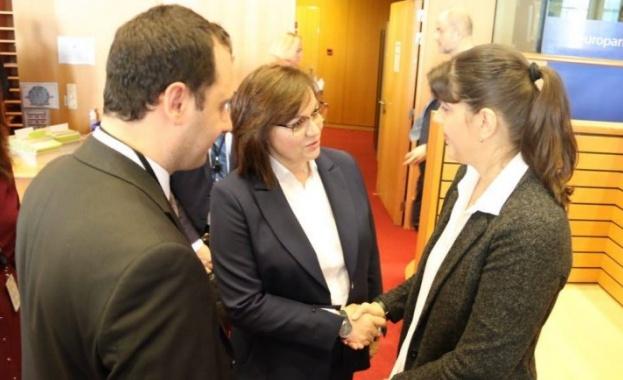 Председателят на БСП Корнелия Нинова се срещна с европейския главен
