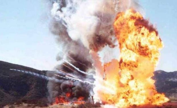Огън и огромни кълба дим до летище в Австрия, има ранени