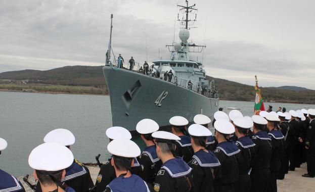 Тържественото отбелязване на 141-ата годишнина от създаването на Военноморските сили