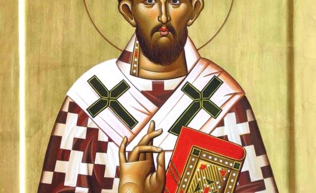 Св. Елевтерий, римлянин от знатен произход, получил от майка си