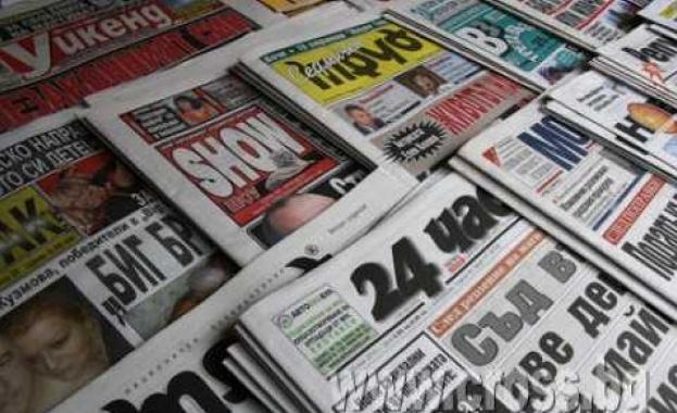 Водещи заглавия на първите страници в. 24 часа - стр.