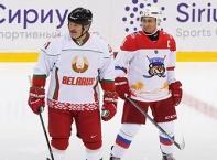 Владимир Путин и Александър Лукашенко поиграха хокей