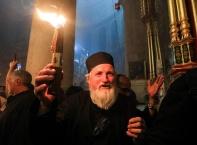 Слизането на Благодатния огън в Гроба Господен в Йерусалим