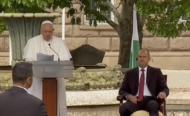 Папа Франциск: Радвам се, че се намирам в България - място за срещи на множество култури