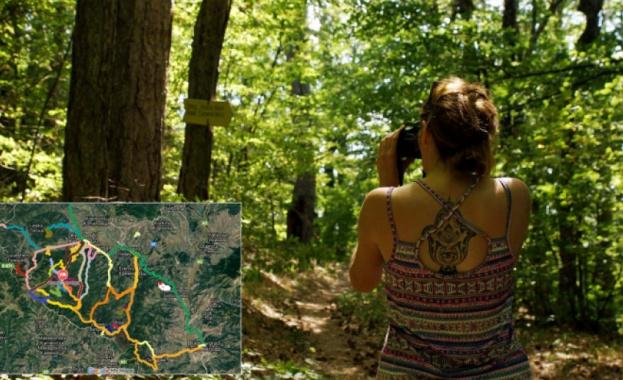 Интерактивна онлайн карта представя маршрути в Осоговската планина