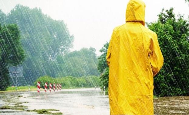 Днес краткотрайни валежи от дъжд с гръмотевици