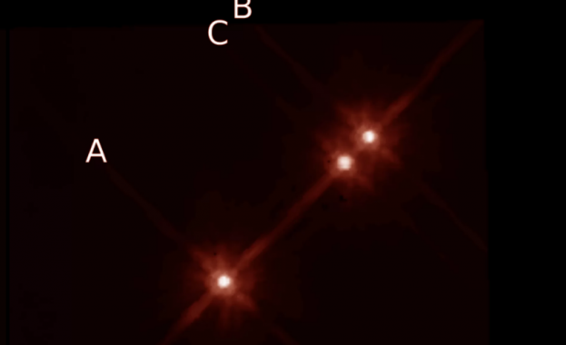 """Откриха """"невъзможна"""" планета с три слънца"""