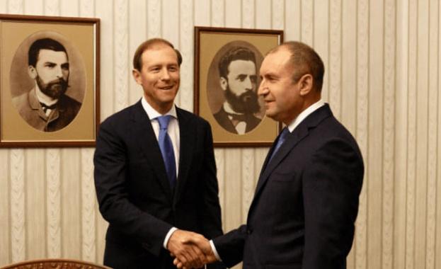 Министърът на промишлеността и търговията на Русия беше приет от президента