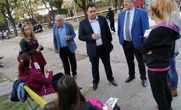 Николай Радев и д-р Баташки в кв. Гагарин: Социалистите сме алтернатива на статуквото в Пловдив