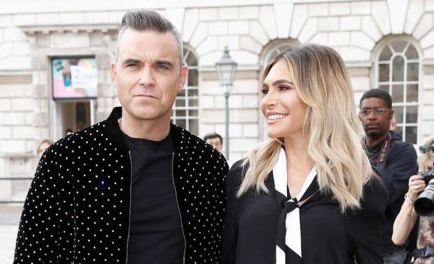 Британският певец Роби Уилямс и съпругата му, актрисата от САЩ