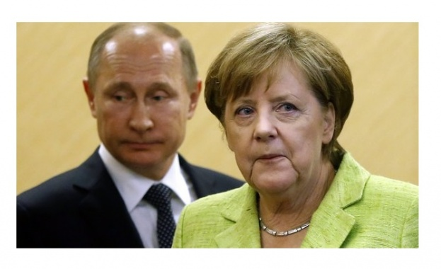 Руският президент Владимир Путин и германският канцлер Ангела Меркел обсъдиха
