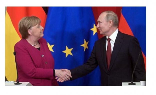 Путин и Меркел обсъдиха ситуацията в Югоизточна Украйна