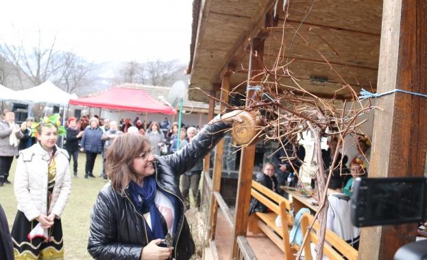 Нинова заряза лозите в  село Врачеш