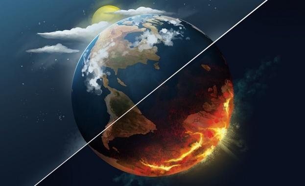 Температурата на повърхността на сушата и на океаните в обширни