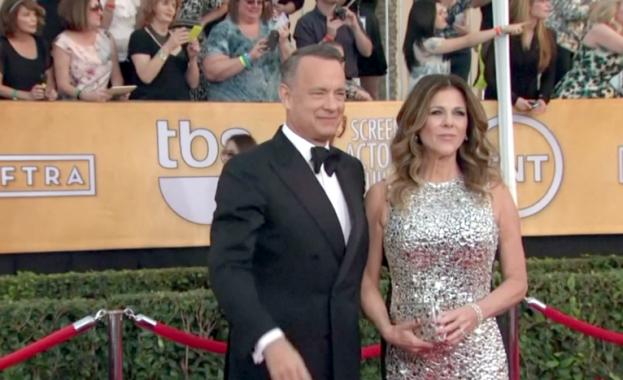 Американският актьор Том Ханкс и съпругата му Рита Уилсън, бяха