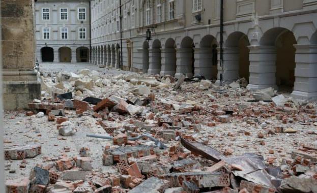 Земетресението, което удари хърватската столица Загреб преди месец, е причинило