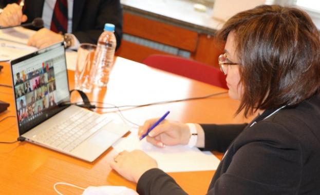Председателят на БСП Корнелия Нинова взе участие във видеоконферентна среща