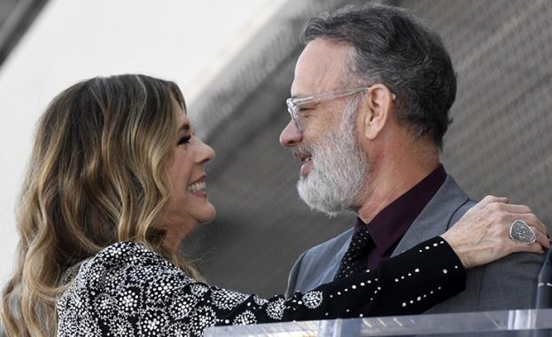 Том Ханкс и съпругата му Рита Уилсън, които бяха сред