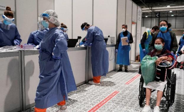 Испания регистрира за едно денонощие 849 смъртни случая, свързани с