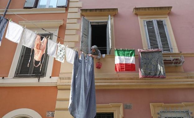 Броят на смъртните случаи, причинени от COVID-19 в Италия, беляза