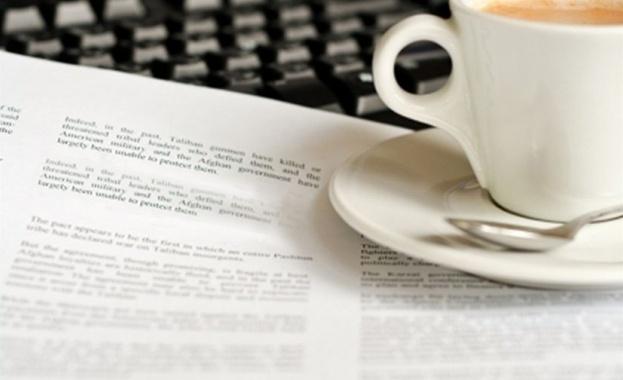 Водещи заглавия на първите страници в. 24 часа - Радев