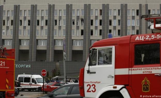Пожар в болница в Санкт Петербург