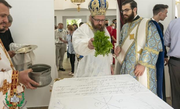 На 4 юли бе осветен новопостроеният храм в чест на