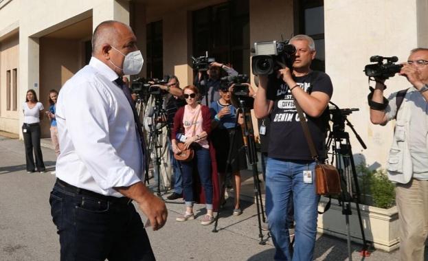 Премиерът Бойко Борисов пристигна в Специализираната прокуратура, където е призован