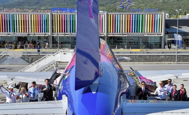 Wizz Air вече разполага с трети самолет в своята модерна