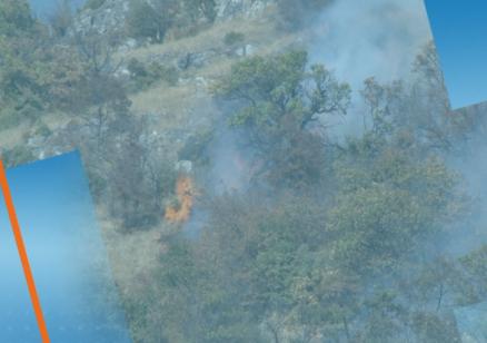 Голям пожар гори между харманлийските села Българин и Рогозиново, движението по АМ Марица е ограничено