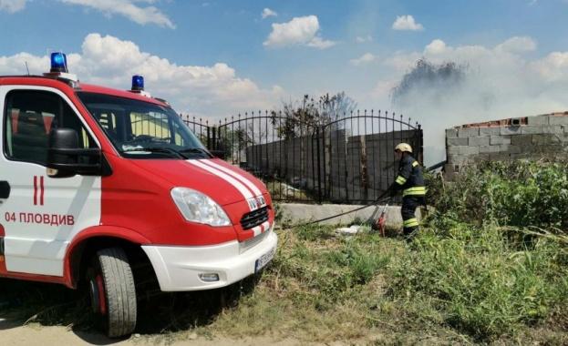 Пожар избухна в атоморга край Пловдив