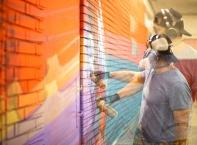 Творческо преобразяване на подлеза към метрото на Централна автогара