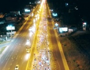 Масово нощно каране за толерантност на пътя