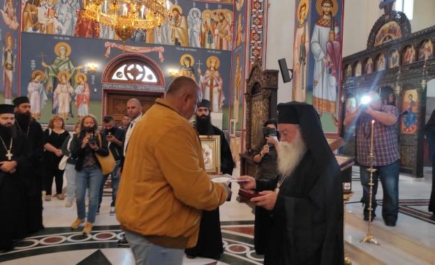 Ловчанският митрополит Гавриил награди министър-председателя Бойко Борисов с ордена на