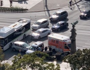 """Катастрофа с линейка затрудни движението на """"Орлов мост"""""""