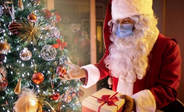 Дядо Коледа с маска срещу Covid-19
