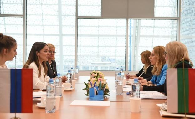Марияна Николова беше на посещение в Русия