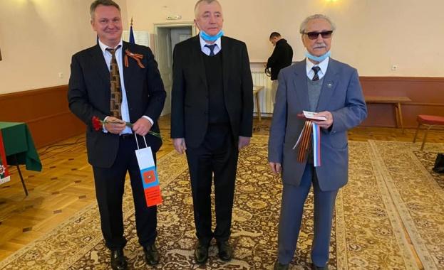 Тържествено връчване на юбилейните медали на руски и български ветерани от Втората световна война