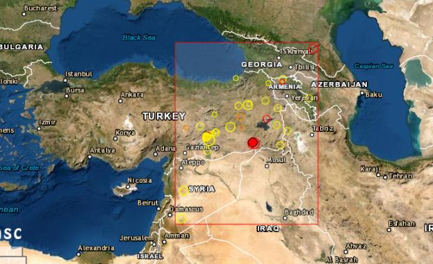 Земетресение с магнитуд от 5-та степен разтърси Турция в 7:45