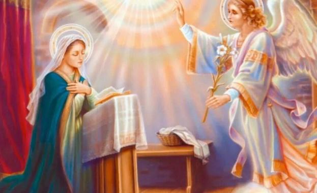 Християните празнуват днес Благовещение - деня, в която Архангел Гавриил