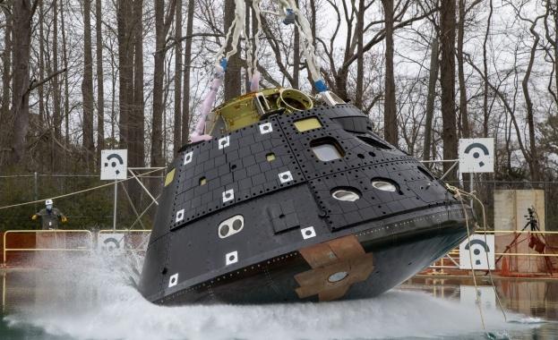 Изпитанията за приводняване на капсулата на космическия кораб