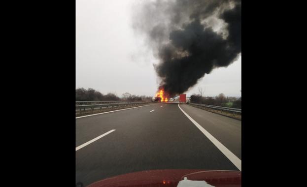 Инцидентът е станал в платното в посока Бургас Катастрофа затвори
