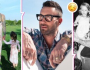 Адам Лавин от Maroon 5 облече рокля, снима се с дъщеричките си