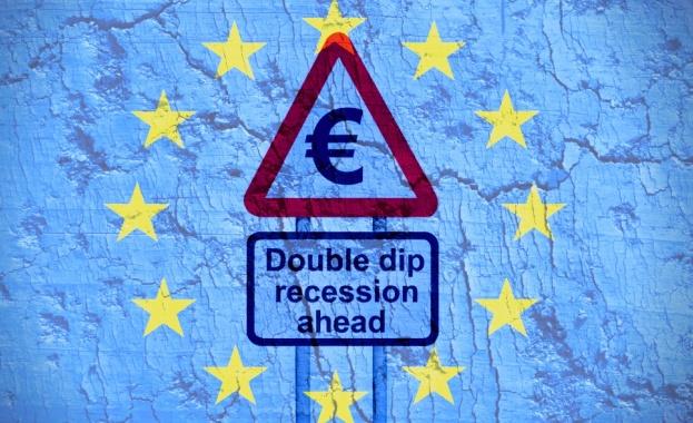 Еврозоната във втора рецесия за по-малко от година