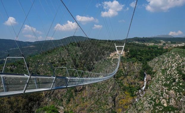 Най-дългият висящ пешеходен мост в света